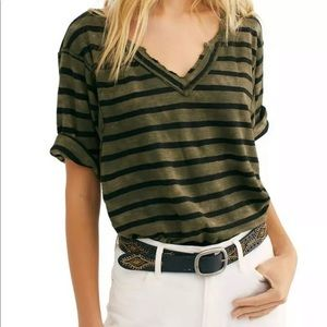 WE THE FREE | Head in the Clouds Green Stripe Top